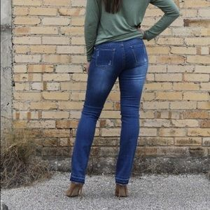L&B Jeans - Plus Size Mid Rise Distressed Denim Bootcut